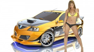 Car And Girl Real hd Wallpaper