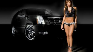 Decent Looking Model With Car Fit Wallpaper