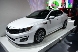 free White new Kia Optima Hybrid 2014