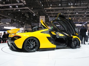 download Yellow 2014 Mclaren P1 in Auto Show Wallpapers