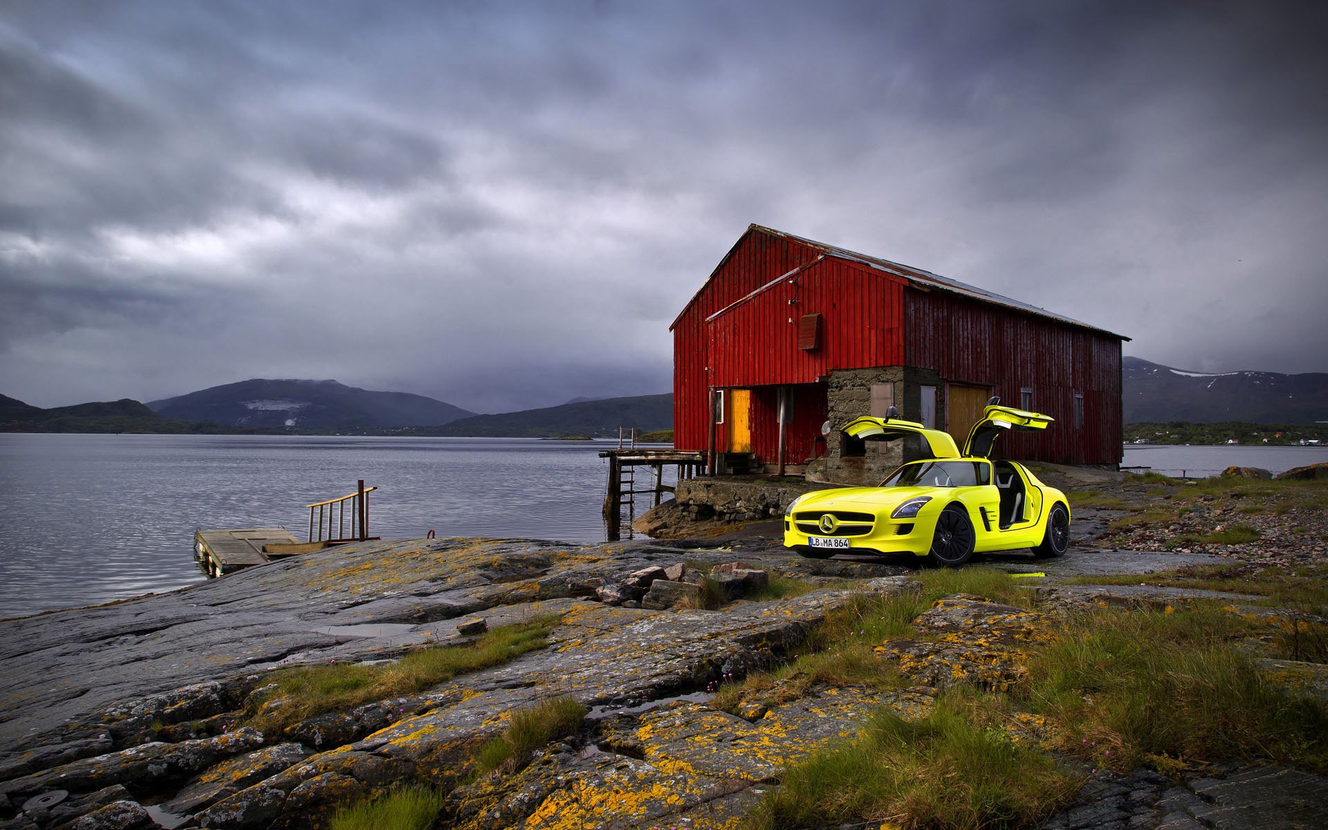 download NFS Car And Cottage On Sea Bank Cool HD Wallpapers
