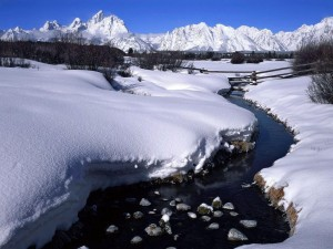download Deo Sahi Snow Covered River Hd Wallpapers