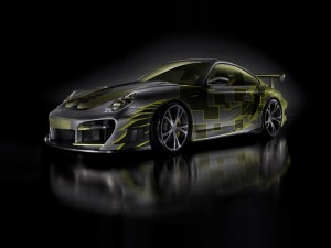 Download 3D Techart Porsche Turbo Hd Wallpaper