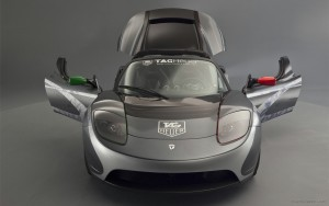 Download Airborne Tesla Roadster Hd Wallpaper