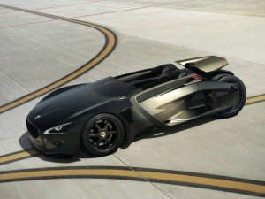 Download Golden Peugeot EX1 Concept Car Hd Wallpaper