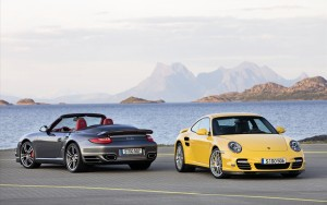 Download Grey And Yellow Porsche Turbo Car Hd Wallpaper