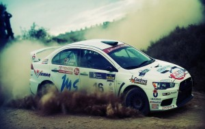 Download Lancer Car Desert Rally Hd Wallpaper