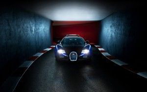 Download Lights On Bugatti Car Hd Wallpaper