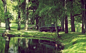 Download Nature Reflection Car Hd Wallpaper