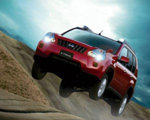 Download Nissan X Car Trail Jump Hd Wallpaper
