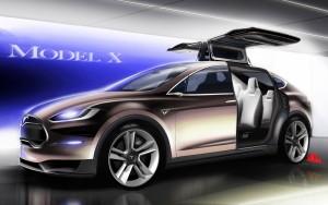 Download Tesla Model X Fly Mode Hd Wallpaper