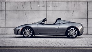 Download Tesla Roadster Side View Hd Wallpaper