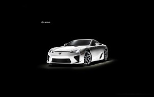 Download Lexus LFA Stunning White Hd Wallpaper