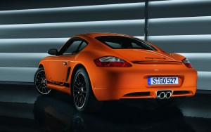 Orange Porsche Cayman