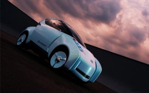 Download Nissan Glider 3D Concept Hd Wallpaper
