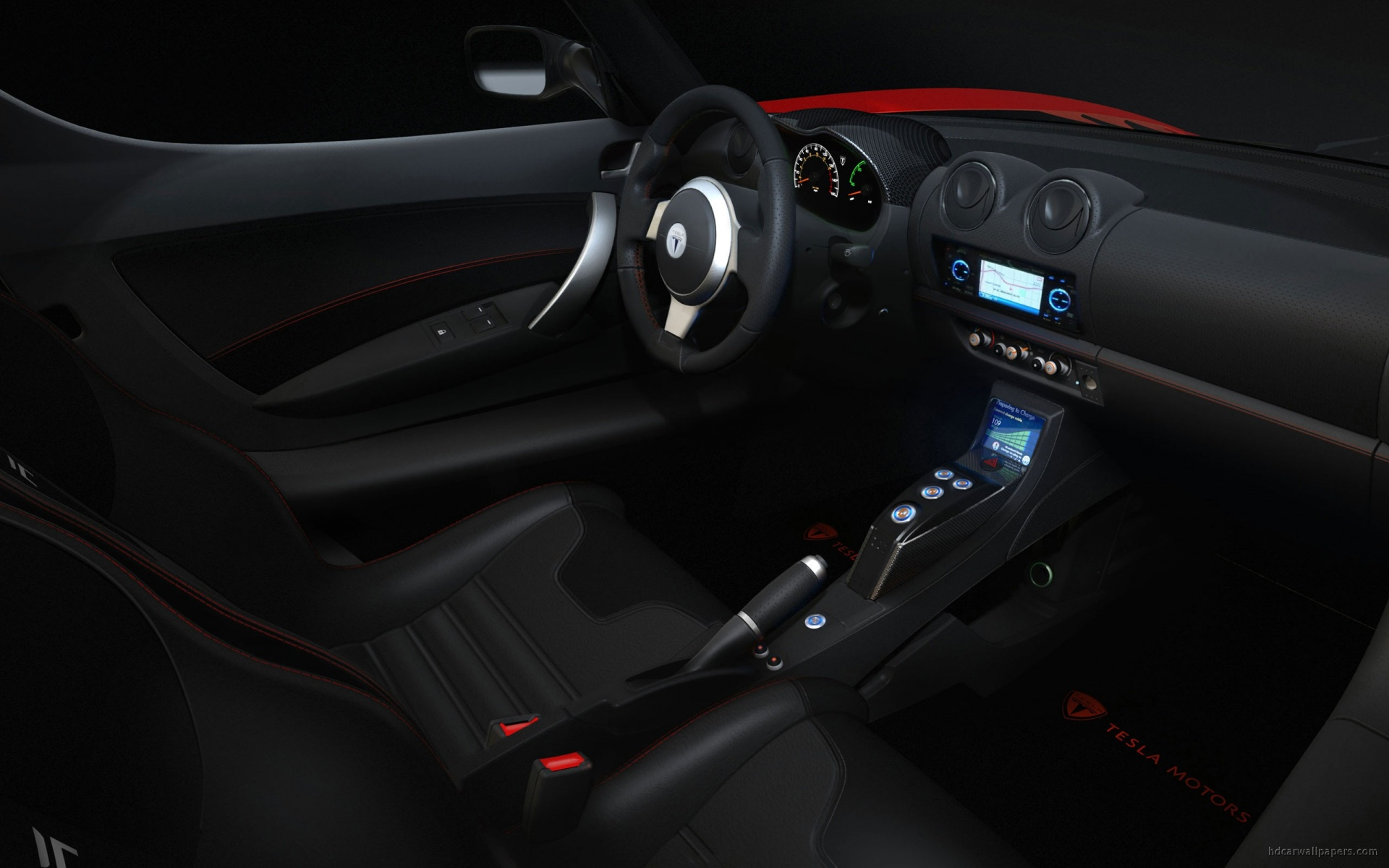 Download Sports Car Tesla Interior HdWallpaper