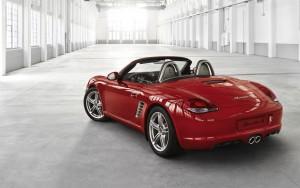 Download Stunning Red Boxter Car Hd Wallpaper