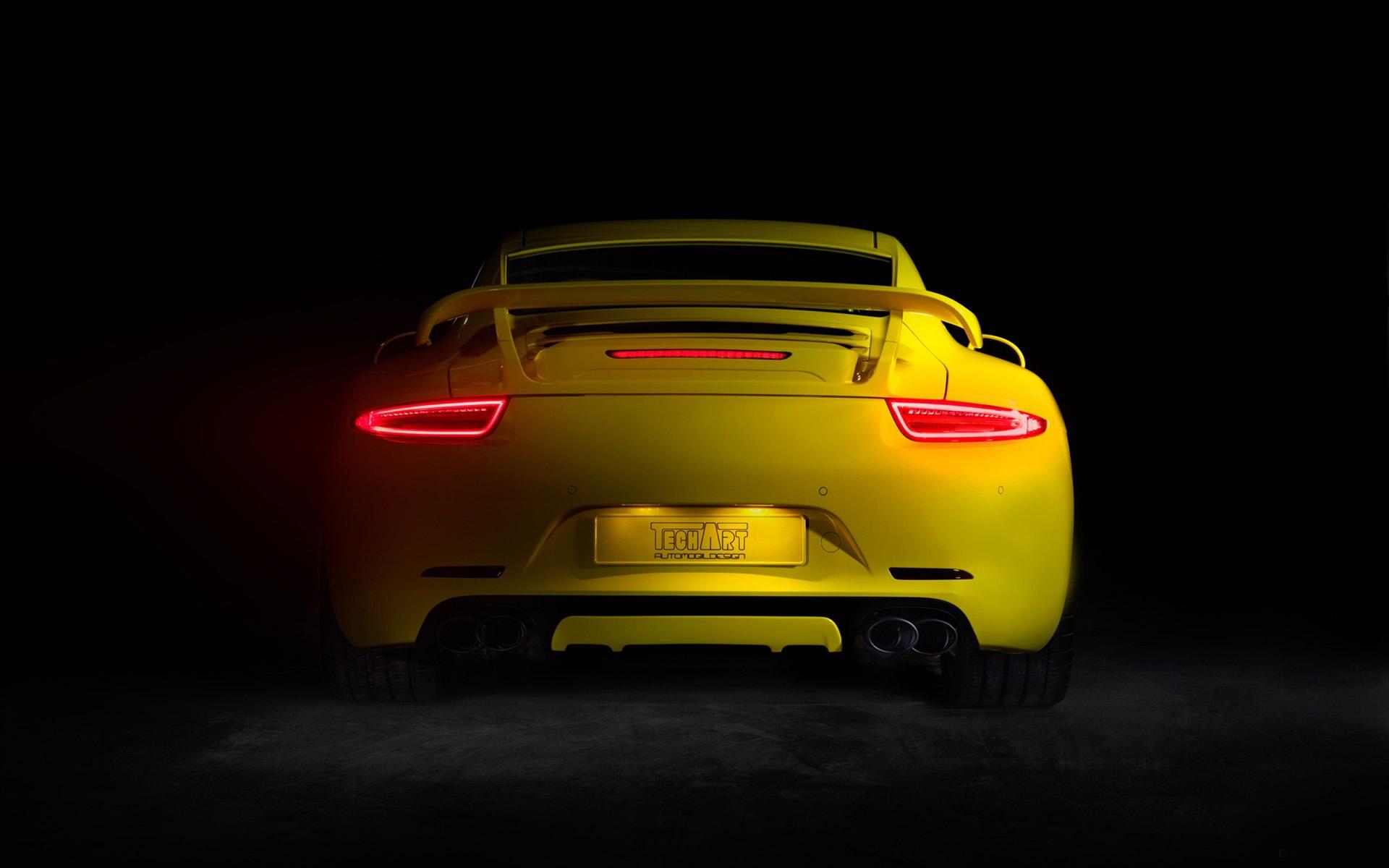 download Techart Porsche Light Up Hd Wallpaper