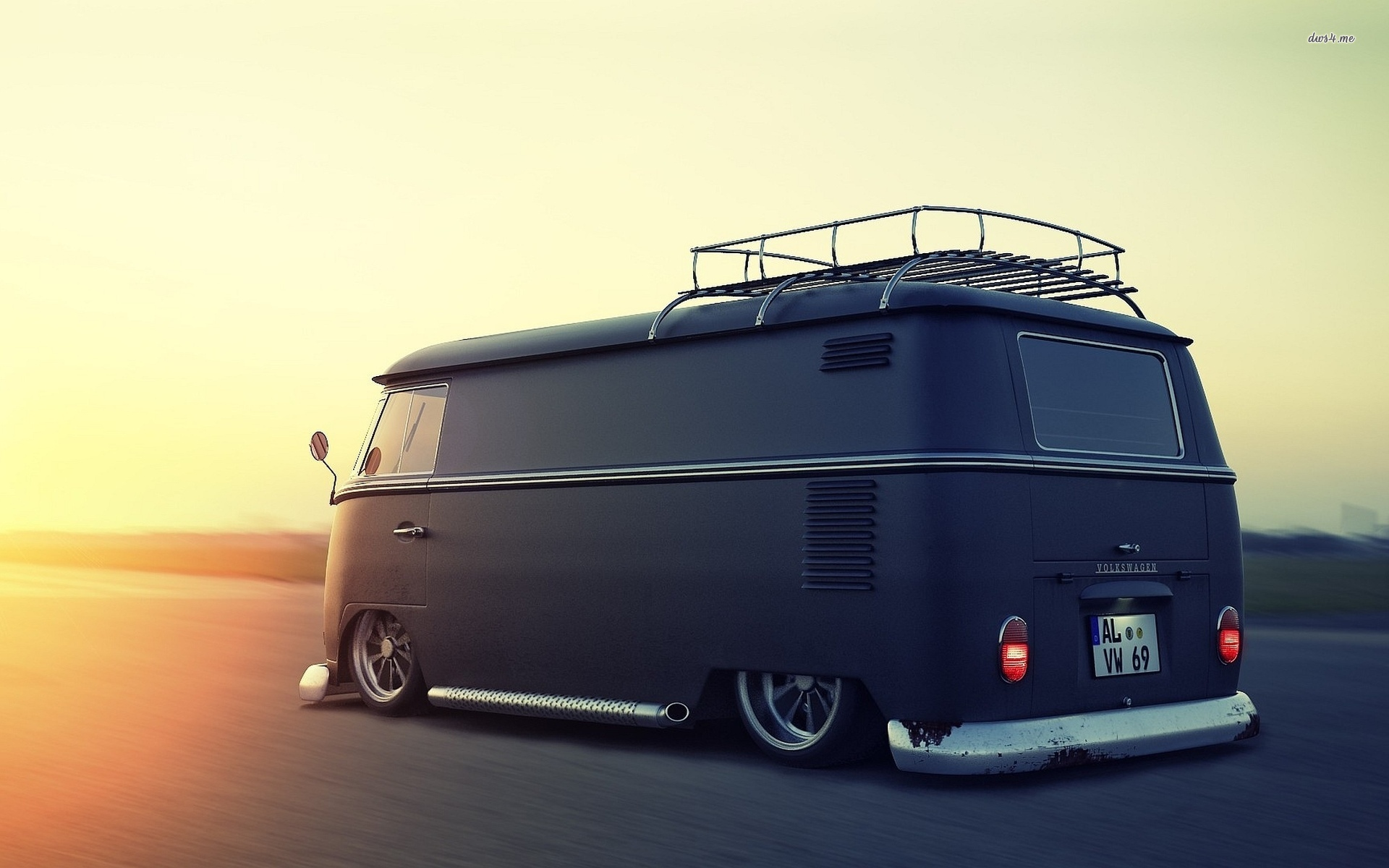 download Lowrider Volkswagen Wallpaper