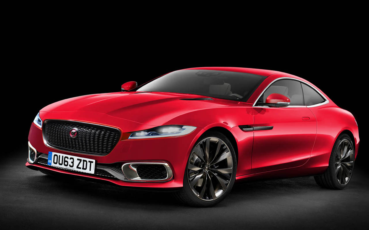 download Jaguar XJ Red Color