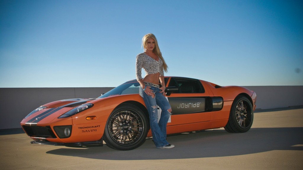 download Girl With Sports Car 2016 Model Wallpapers
