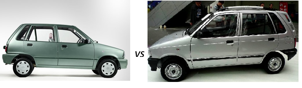 Suzuki mehran vs china mehran comparison 2016 car wallpapers for Alto car decoration