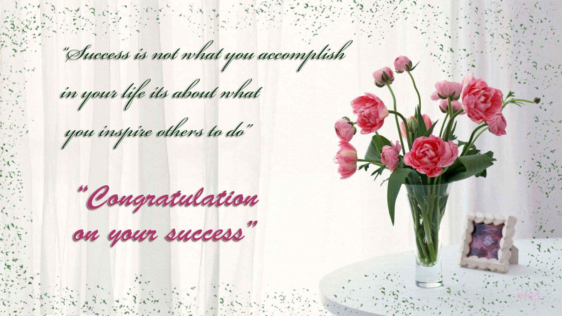 Congratulations On Your Success