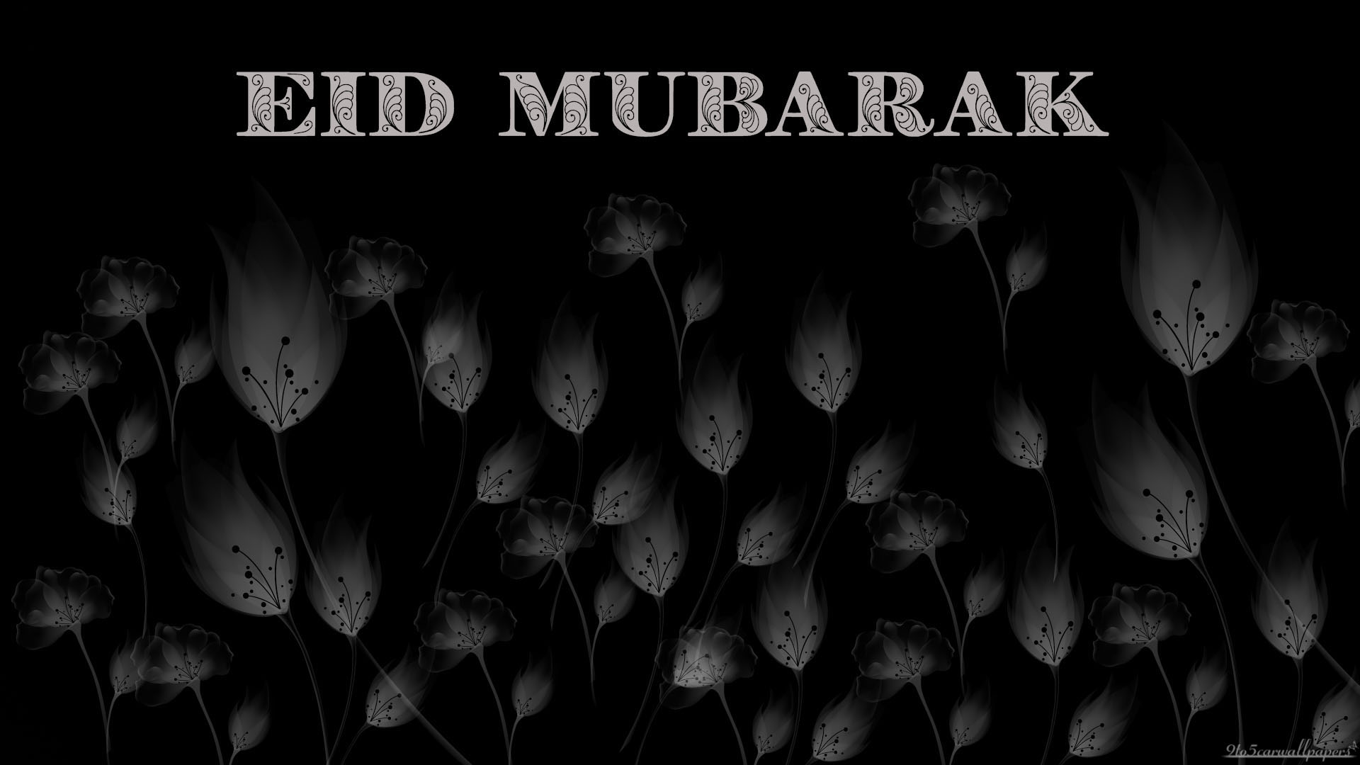 black-grey-eid-card