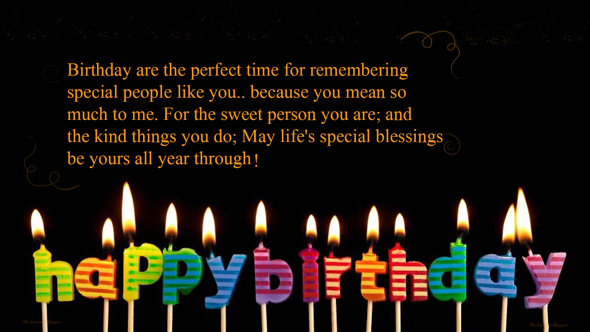 happy birthday my love quotes & wallpapers  