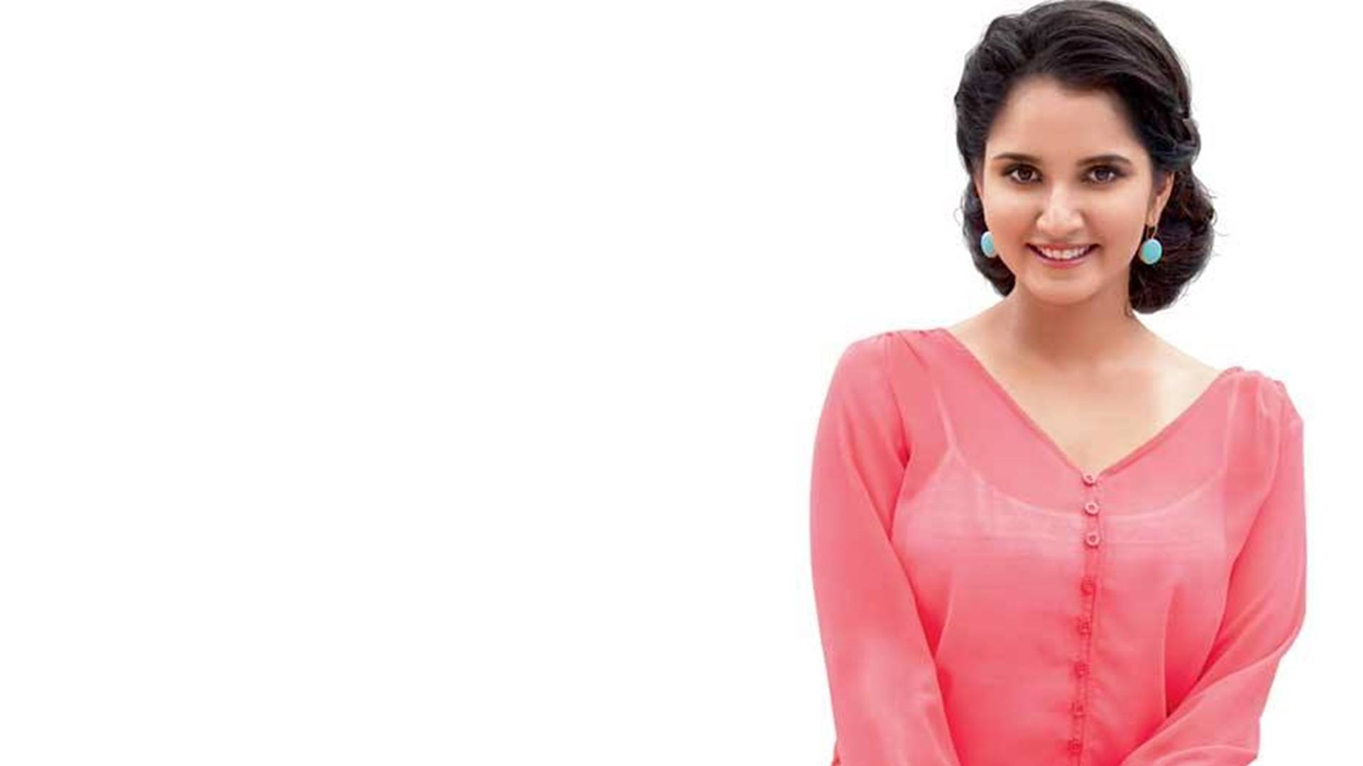 Cute-Sania-Mirza-In-Pink-Dress-Hd-Images-and-Pics