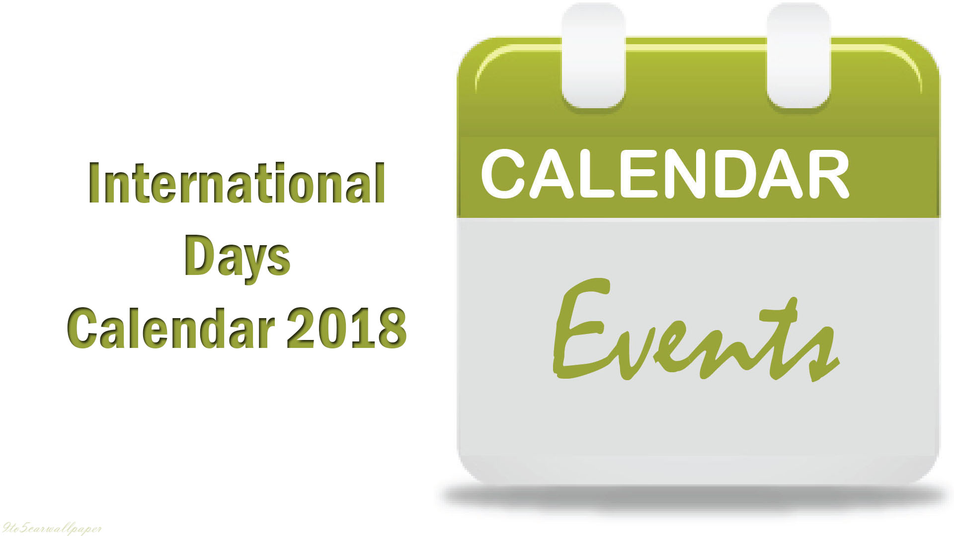 international-days-calendar-2018