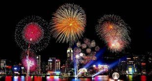 Fireworks-New-Year-night-Hong-Kong-HD-Images-wallpapers
